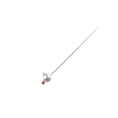 #88 百花 Horn Pearl Earring