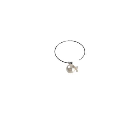 #47 百花  Goldfish Pearl Hoop Earring Large