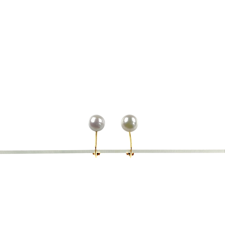 #25 百花  Akoya Pearl Earrings