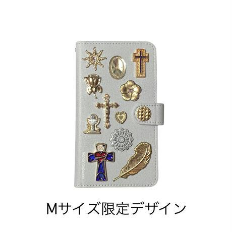 手帳型スマホケース Mサイズ〈Gray〉