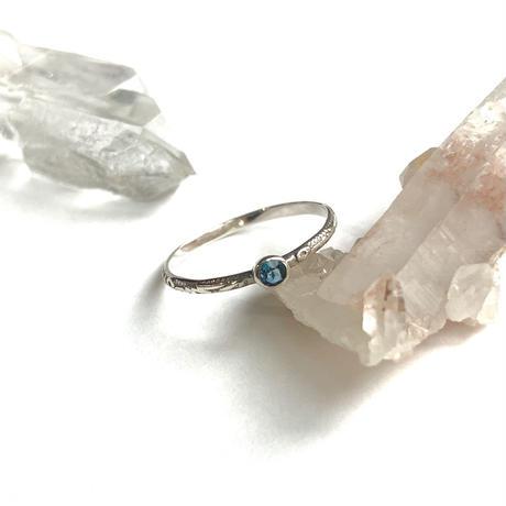 【受注商品】Birthday stone pattern ring (11月/ロンドンブルートパーズ)