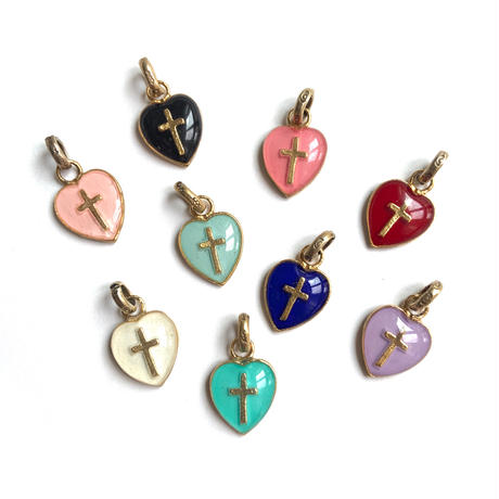 Heart cross charm