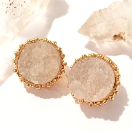Druzy quartz pierce (set)