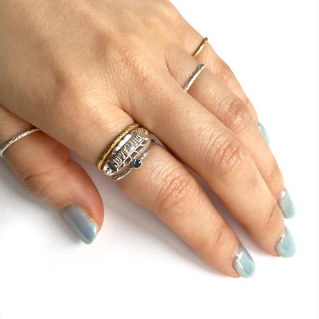 【受注商品】Birthday stone pattern ring (8月/ペリドット)
