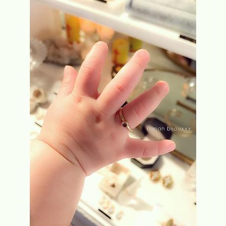 【受注商品】Birthday stone pattern ring (3月/アクアマリン)
