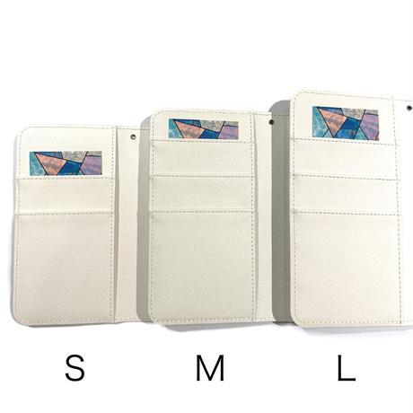 手帳型スマホケース Mサイズ〈White〉