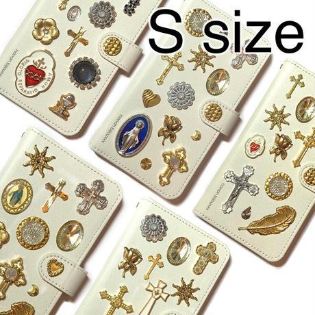 手帳型スマホケース Sサイズ〈White〉
