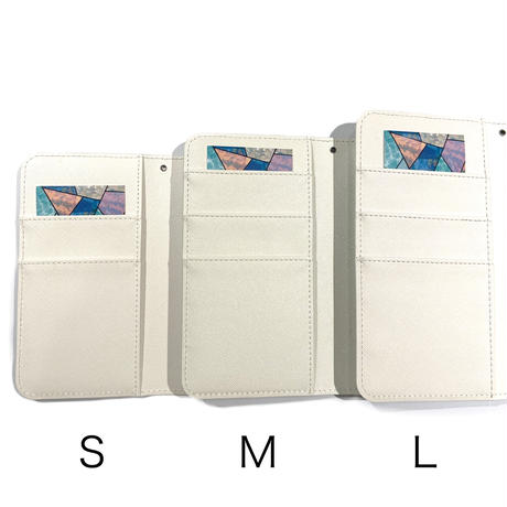 手帳型スマホケース Lサイズ〈White〉