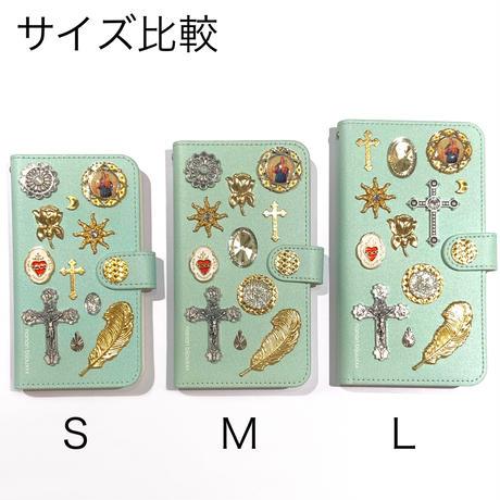 手帳型スマホケース Lサイズ〈Mint〉
