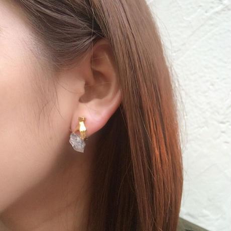 Dress in crystal pierce / earring (SET)