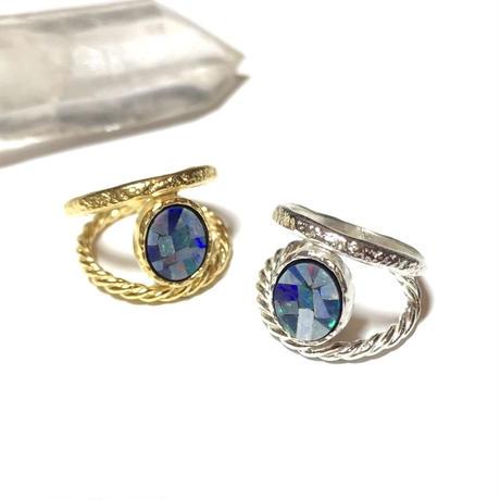 2連 Mosaic opal ring