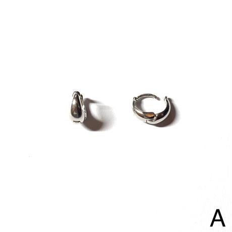Brass hoop pierce (Set) [ロジウム]