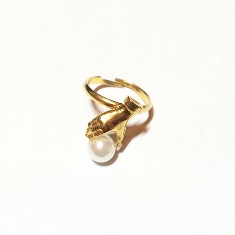 Dress in pearl ring