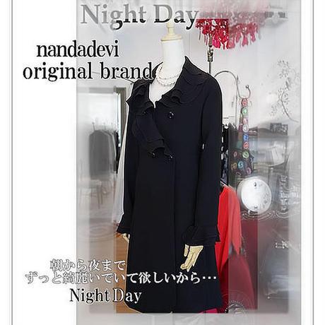 nandadevi オリジナル フリルコート 「Night Day」