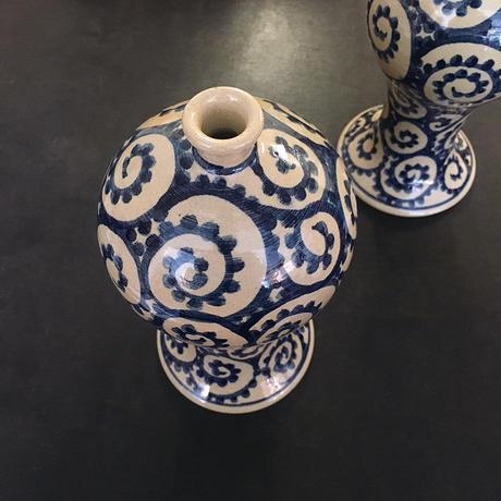 蛸唐草の花器(2つセット)