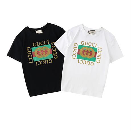 [グッチ] GUCCI ロゴ ウォッシュド コットン Tシャツ 半袖