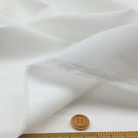 〈50cm単位販売〉【抗菌抗ウイルス加工繊維 クレンゼ TCブロード】白  約110cm幅 ポリエステル65% 綿35% 厚さ0.1mm