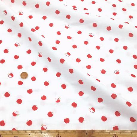 〈50cm単位販売〉【ダブルガーゼ】リンゴ柄  約108cm幅 綿100%