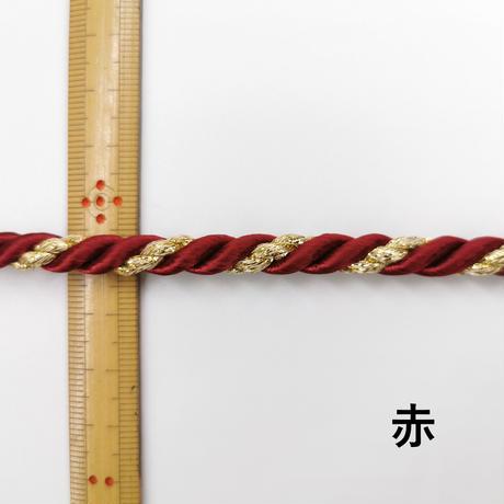 〈50cm単位販売〉【ねじり紐】飾りひも  太さ約7mm ねぶた お祭り 袋ひも