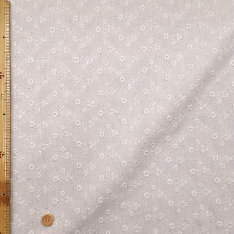 〈10cm単位販売〉【刺繍コットンリネンキャンバス】 約105cm幅 刺繍入り 綿麻