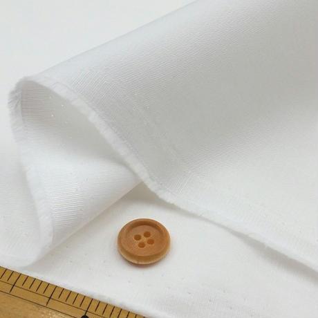 〈50cm単位販売〉【抗菌抗ウイルス加工繊維 クレンゼ ツイル】白  約112cm幅 綿100% 厚さ0.2mm