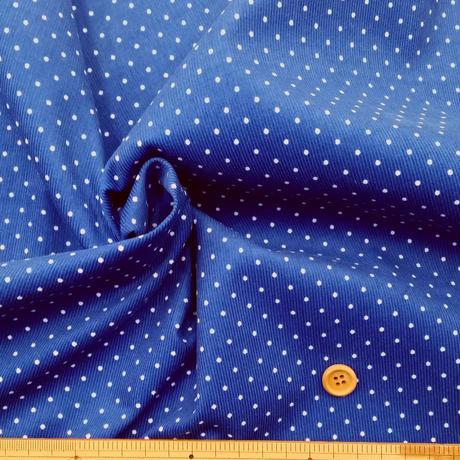 〈50cm単位販売〉【コーデュロイ】細コーデュロイ(細コールテン) 2mm水玉柄 約106cm幅 綿100%