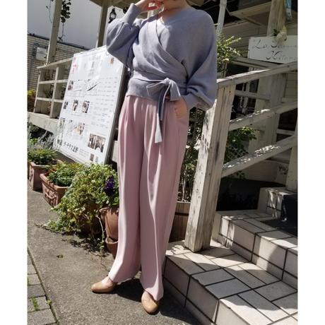 【訳あり商品】ツータックワイドパンツ ピンク