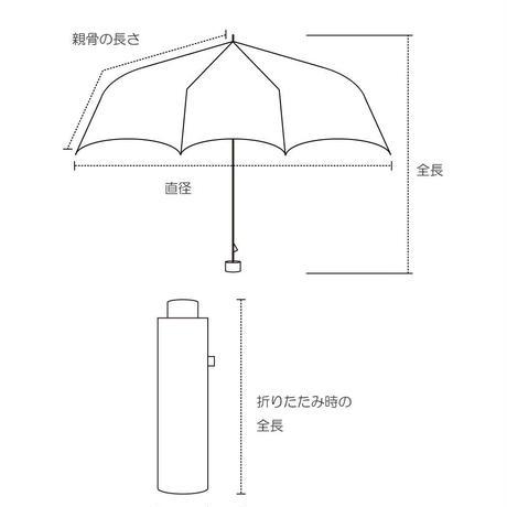 晴雨兼用折り畳み傘 フリルチェック ネイビー ブラック黒