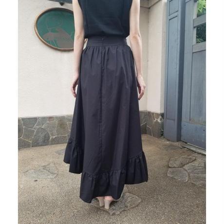チューリップヘムフィッシュテールスカート 黒ブラック