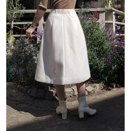 キルティング調ジャガードスカート