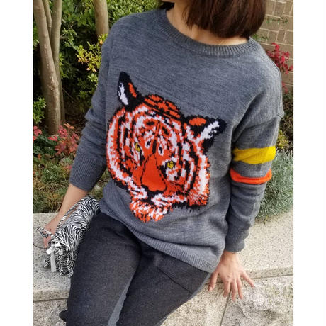 Tiger丸首ニット