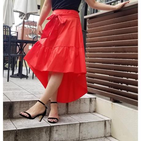 フィッシュテールスカート 赤レッド