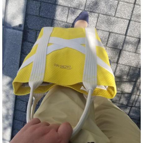 TACHI-NUトートバッグ  CROSS Sサイズ 黄色 イエロー グレージュ