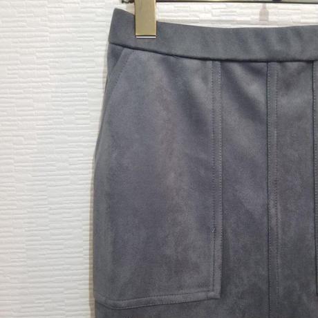 エコスエードタイトスカート グレー