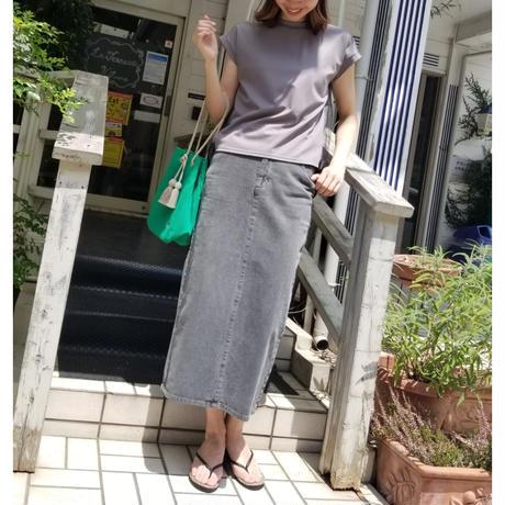 デニムカラータイトスカート パープル ブルー グレー