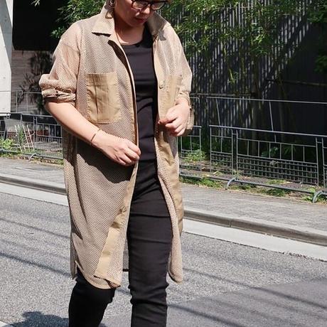メッシュロングシャツ モカベージュ