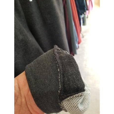 異素材美脚スエットパンツ グレー ブラック