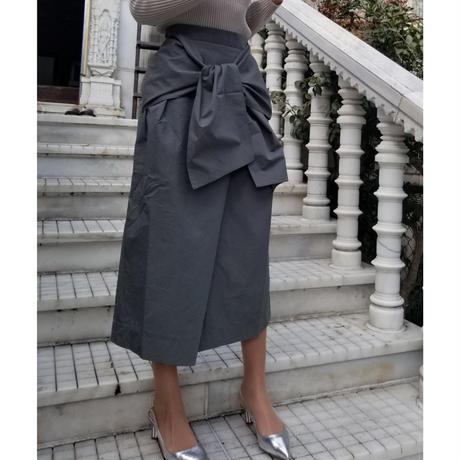 変形スカート カーキグレー