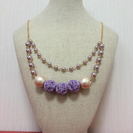 ジュリアネックレス〈Purple〉