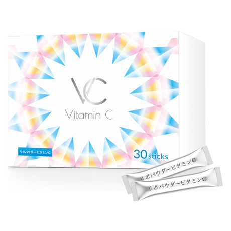 リポパウダービタミンC 高濃度 リポソームビタミンC サプリ 飲みやすい 顆粒 リポゾーム スティック 30包