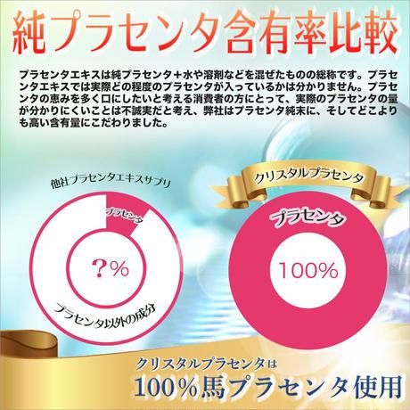 高濃度 馬プラセンタ 純度100% サプリメント クリスタルプラセンタ 120万mg(原料換算1箱)国内製造 120粒 (1箱)