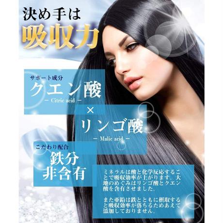 高吸収タイプ 育毛サプリメント 女性用 亜鉛 27mg 女性向け育毛ケア サプリ 美髪プレミア 国内製造 90粒