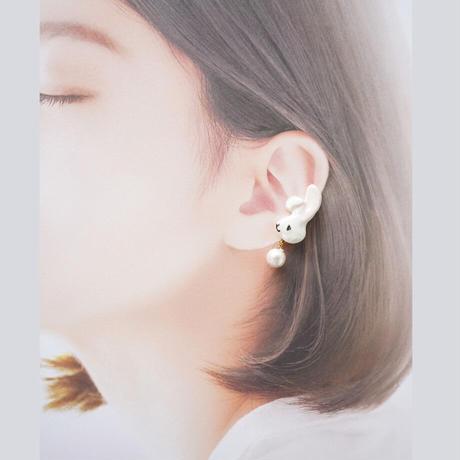 うさぎイヤカフ(左耳用)