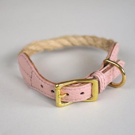 [Hunting Pony] 麻ロープ リード グレージュ/ピンク/キャメル