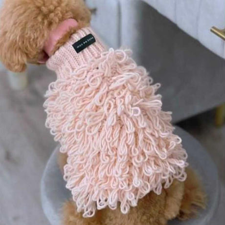 [max-bone]  Curly Knit ピーチ