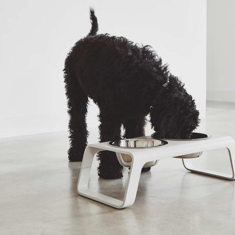 [MiaCara]  Dog Feeder  アッシュホワイト M