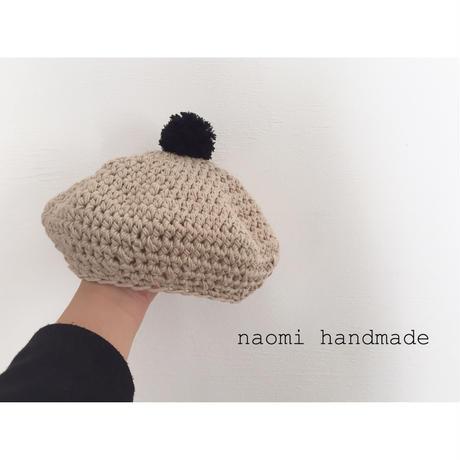 【春夏】ポンポンベレー帽 Sサイズ