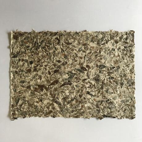 落ち葉入り手漉き和紙