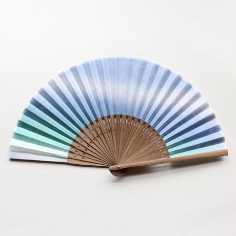 扇子 吹きつけ 緑×青