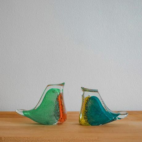 鳥オブジェ (ガラス)